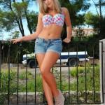 Jodie Gasson Does Denim Shorts