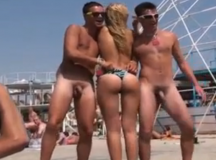 Nudist Beach Dance