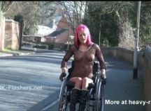 Hot wheelchair girl can do the splits naked and walk your dog at the same time