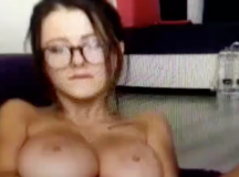 Busty Girl Being Busty