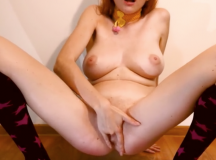 Masturbating with the Big Tits and Piss.