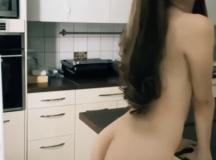 Skinny Girl Shows off Body!